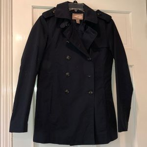 Navy blue lightweight trench coat